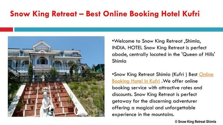 Snow King Retreat Shimla (Kufri ) offer online booking service with  attractive rates and discounts.Snow King Retreat is perfect gateway for the  discerning adventurer offering a magical and unforgettable experience in the mountains. #Hotel #Shimla #Resorts #HimachalPardesh #Kufri #Snow
