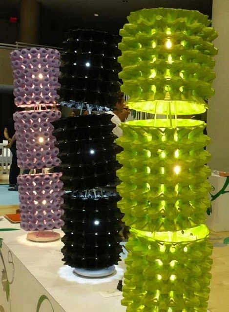 Egg Crate Lamp. Stage design idea.
