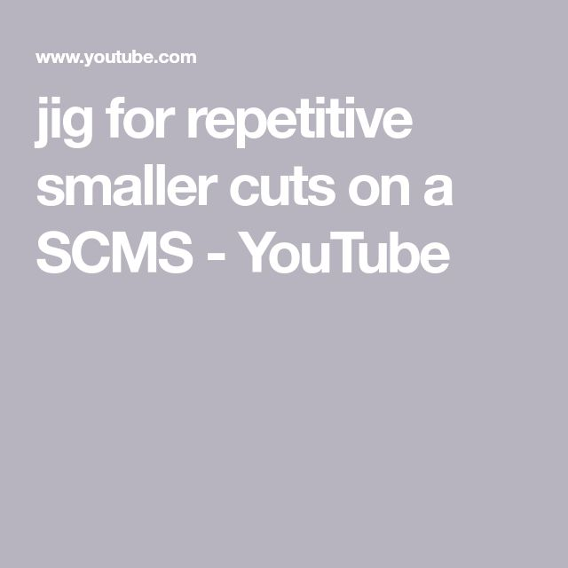 jig for repetitive smaller cuts on a SCMS - YouTube