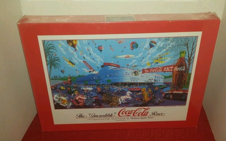 "The ""Incredible"" Coca Cola Race Seriagraph by Melanie Taylor Kent Puzzle 2000 PC"