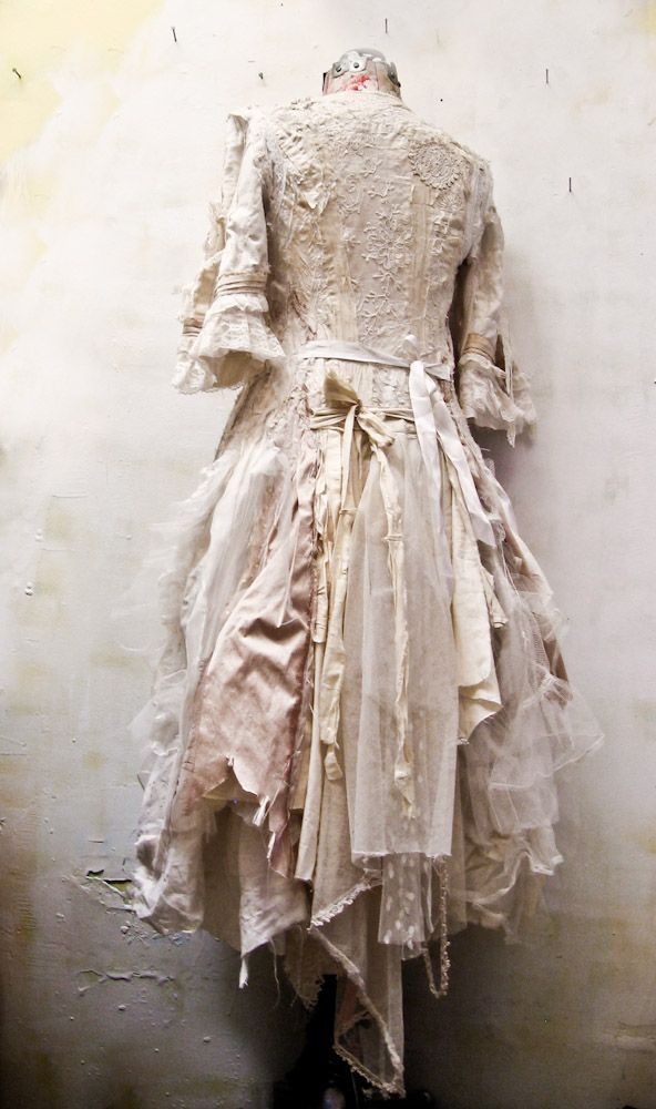 ❥ gibbous fashions~ a custom dress made from salvaged antique fabrics...for the lovely performer kate mior .. ♥: Ideas, Costumes, Style, Vintage Dresses, Beautiful, Gibbous Fashions, Things, Steampunk