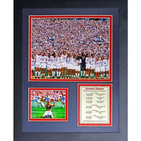 World Cup Soccer United States Team USA Women's 1999 Champions Legends Never Die Framed Photo Collage, 11 inch x 14 inch, Champions Color