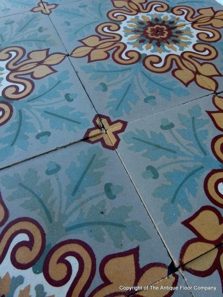 Antique Floor Tiles London Vintage Floor Tiles Belfast Edwardian Floor Tiles Ireland 155m2 Antique French Douzies Maubeuge Ceramic Tiles C1900 The Antique Floor Company