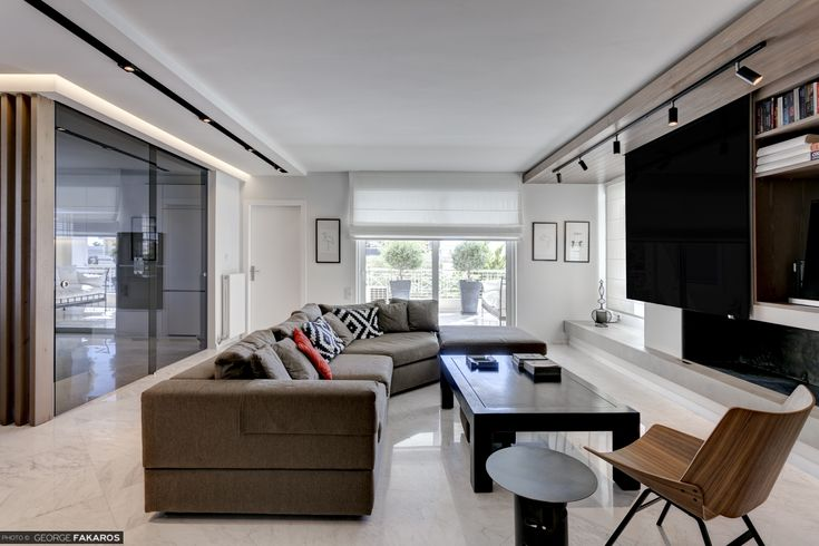 Apartment in Voula Living room