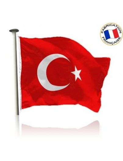 Drapeau Turquie Made In France by Manufêtes