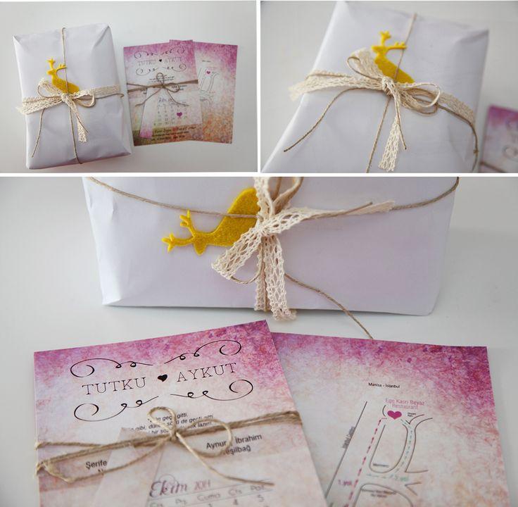 www.buketyasar.com | Modern düğün davetiyesi, Wedding invitation card, Buket Yaşar