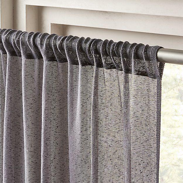 grey net curtain panel 48 x96