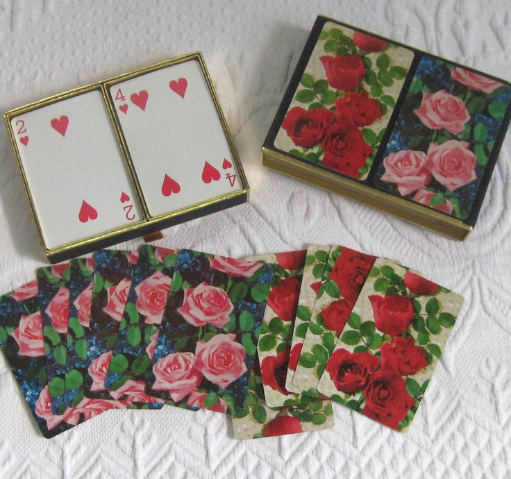 vintage card game . bridge game . vintage bridge game . roses bridge game…