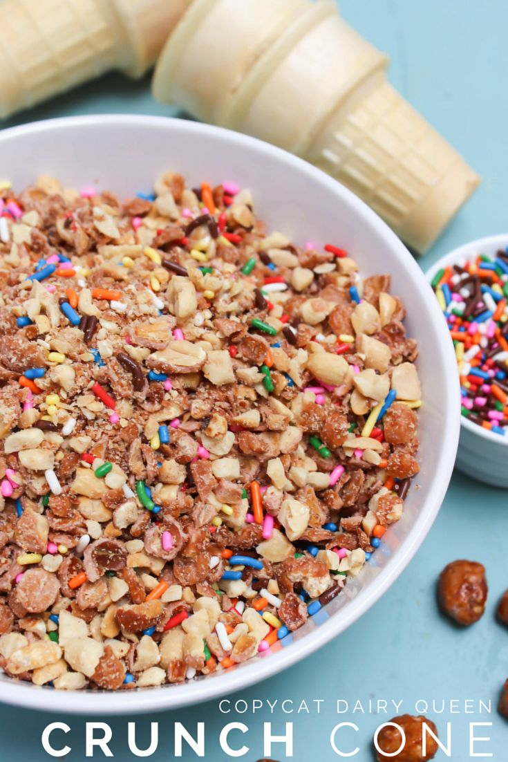 Copycat Dairy Queen Crunch Cone is a great copycat recipe for a popular Dairy Queen menu item! Kick up your ice cream game with this crunchy topping!