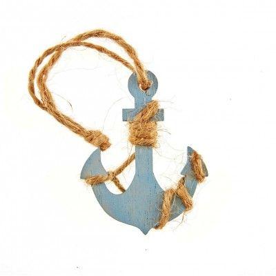 Ce ancre bleu et sa cordelette peut vous servir de décoration de table, de rond de serviette également de décoration de vase ou autre ! Les possibilités sont grandes.   Cet objet déco convient parfaitement pour une fête sur le thème de la mer, des vacances, hawaï, de l'été ... !