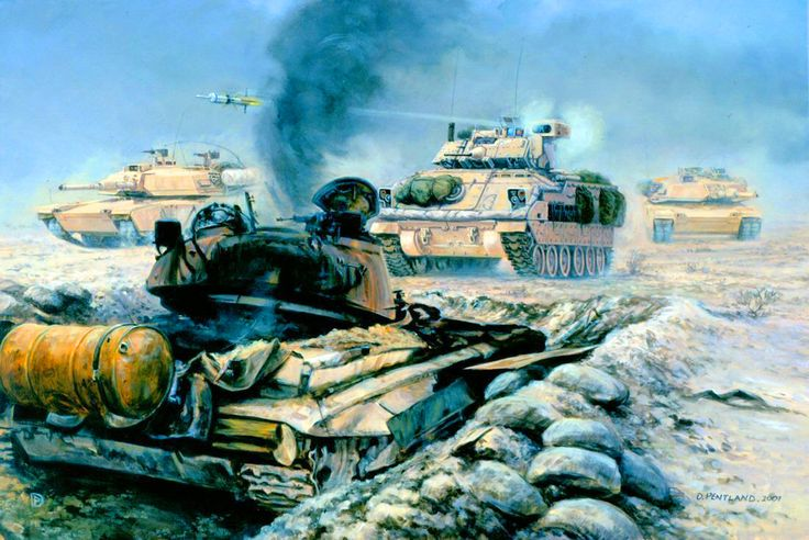 The Battle of 73 Easting, Iraq, 26th February 1991- by David Pentland