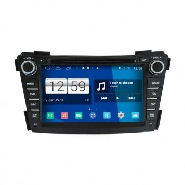 Autoradio GPS DVD HYUNDAI I40 S160 Android 4.4.4 avec HD Ecran tactile Support Smartphone Bluetooth kit main libre Microphone RDS CD SD USB 3G Wifi TV MirrorLink