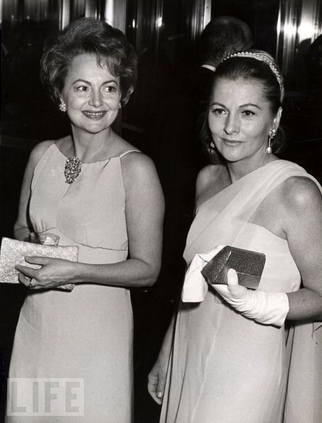 Actresses OLIVIA DE HAVILLAND and JOAN FONTAINE (1967) ~ as sisters, they were seriously at odds throughout most of their lives.