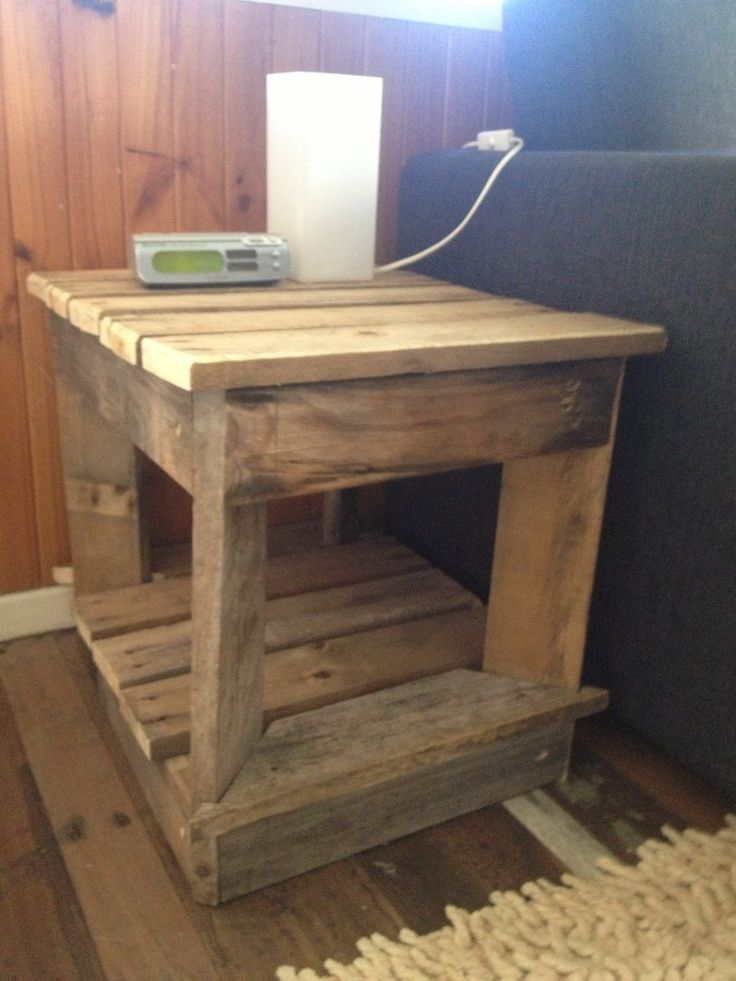 Pallet Bedside Table Pallet Stuff Pinterest Tables