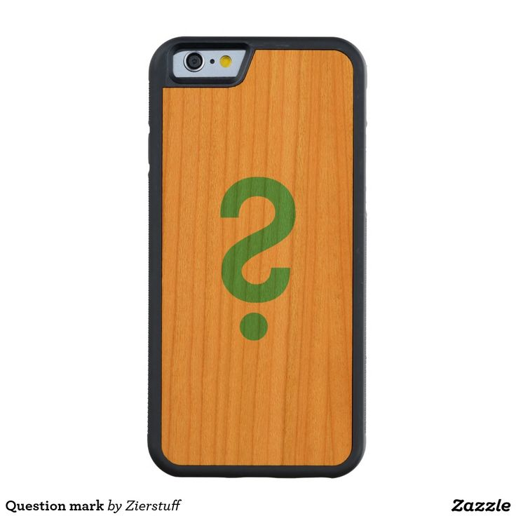 Question mark carved® cherry iPhone 6 bumper