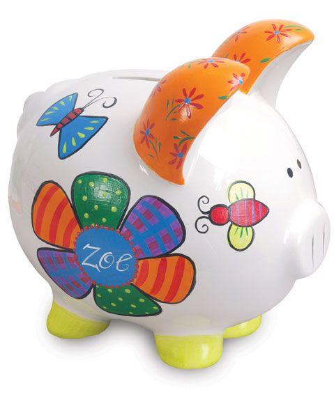 Pretty Piggy Bank project from DecoArt
