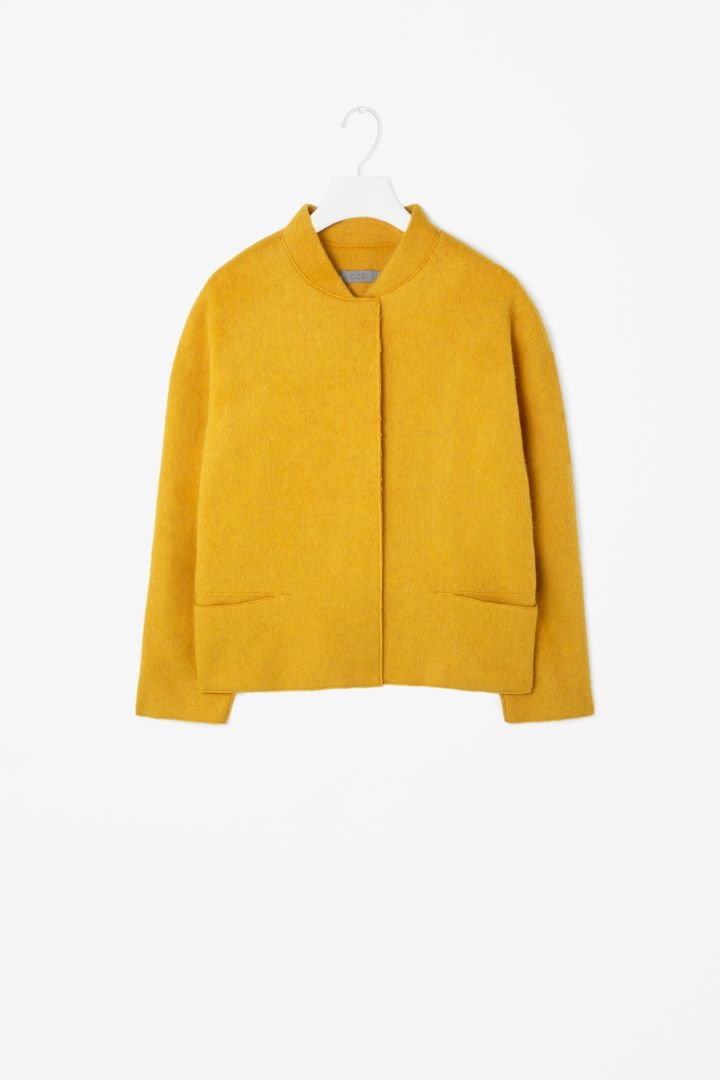 Wool yellow bomber jacket