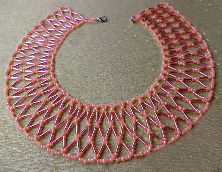 Free pattern for necklace Apricot Jam