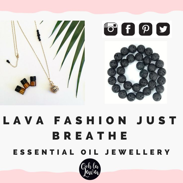 Essential Oil Jewellery Australia | Aromatherapy Necklace, add essential oil to lava stone. #lavafashion