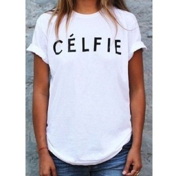 Celfie Shirt Tee XL Tops Soft cotton shirt. Brand new with tags. Size XL No Trades❗️ Travel Gems Tops