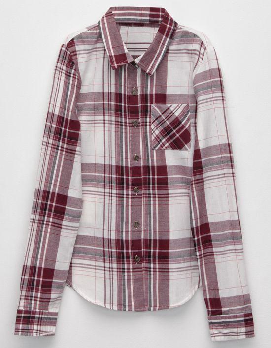 FULL TILT Boyfriend Girls Plaid Shirt