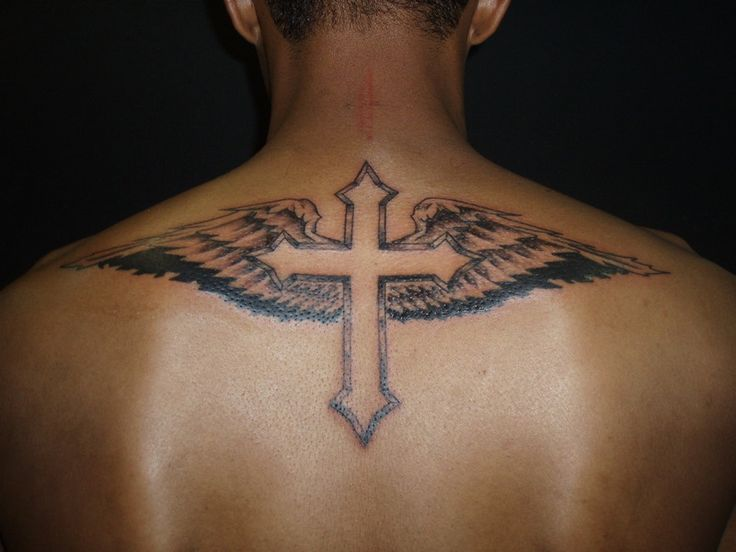 cross tattoos for men | Winged Cross Tattoos For Men