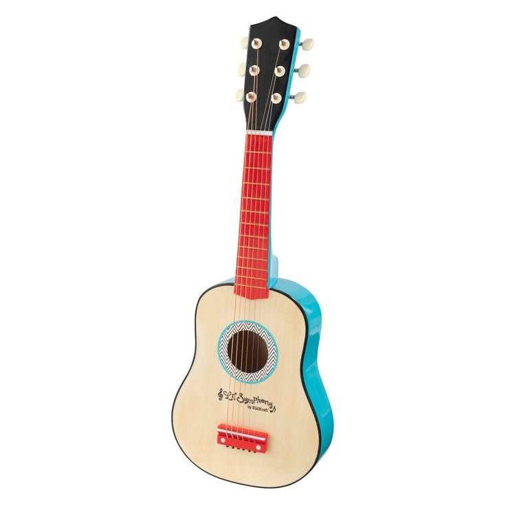 With our Lil' Symphony Guitar, kids can take part in epic jam sessions or put on concerts for the whole family. This six-string beauty makes a perfect gift for any occasion. It's like the song says; let there be rock! The guitar includes six authentic guitar strings--not simple wire like most toy guitars! No assembly required.