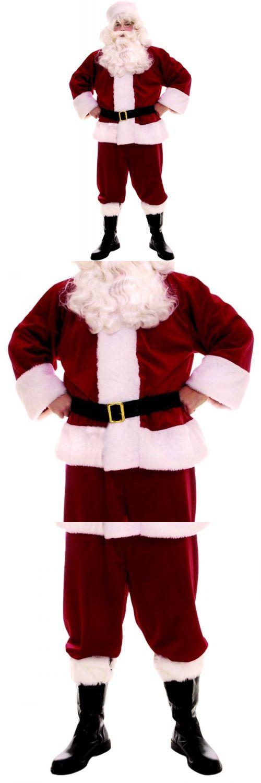 Men 52762: Santa Suit Adult Plush Velvet Christmas Costume Fancy Dress Outfit -> BUY IT NOW ONLY: $55.79 on eBay!
