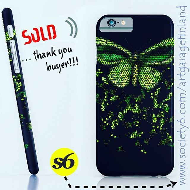 Sold!  ..thanks to person who recently bought this 'Flying' iPhone 6s slim case design from my Society6 webstore. #shareyoursociety6 #iphone #colorful #callme #wings #society6 #phonecase #iphonecase #instaphone #sold #art #phonecover #green #instalike #instaart #artoninstagram #artist #mosaic #butterfly #slimcase #appleiphone #flying #cellphone #cellphonecase #flutter #papillon #cairnsbirdwing #birdwing #butterflies
