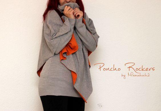 Poncho für den Herbst nähen: Unser Poncho Rockers 1 - Mamahoch2