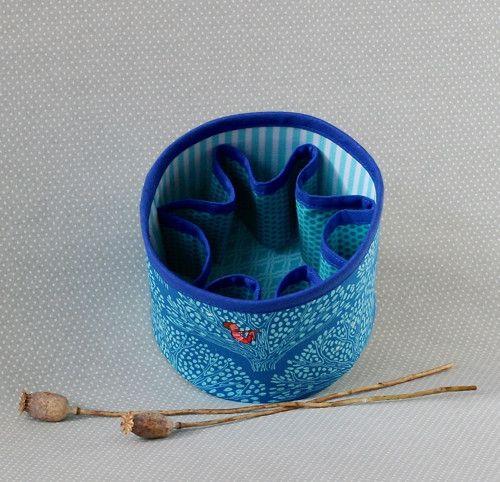 blue trees...textile box