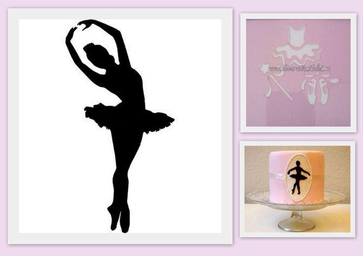 Pentru micile #balerine  #sablon decor - 7lei http://decoratiunidulci.ro/sabloanestencils/339-sablon-balerina.html  SURSA: http://easiepeasie.blogspot.ro/2010/07/homemade-finger-paints.html http://ofenkieker.de/2014/01/23/ballett-torte/