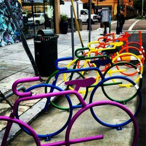 Colorful #Bike-shaped #Bicycle Racks