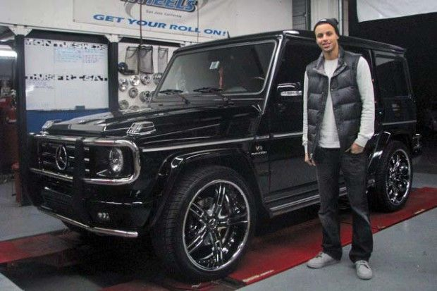 NBA Playoff Stars and Serious Cars  Stephen Curry – Mercedes-Benz G 55