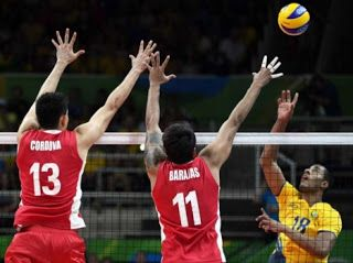 Blog Esportivo do Suíço:  Brasil leva susto, mas vira sobre o México na estreia do vôlei masculino