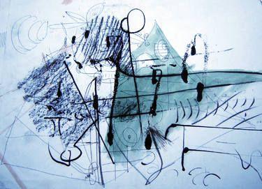"Saatchi Art Artist remus-lucian stefan; Drawing, ""lines and spots 22"" #art"