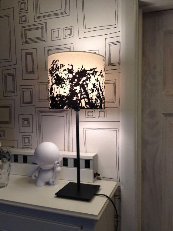 Walls - Designer Marimekko Drum fabric lampshade 20cm dia.