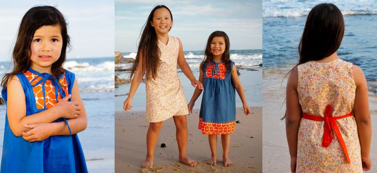 The gorgeous Isabella and Charlotte wearing Umbrella Prints and Jenean Morrison fabrics.