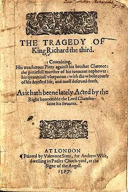 Richard III (play) - Wikipedia, the free encyclopedia