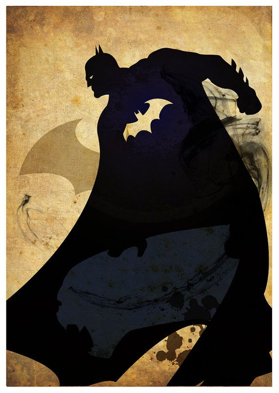 Vintage Superhero Poster A3 Prints от MyGeekPosters на Etsy
