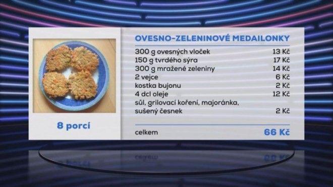 Ovesno-zeleninové medailonky