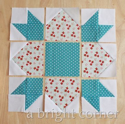 Weathervane Quilt Block tutorial | A Bright Corner | Bloglovin'