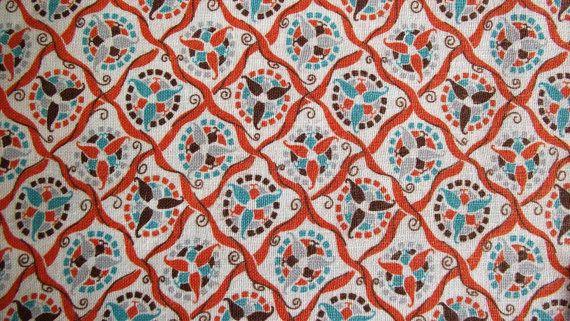 Vintage - Dutch hex orange blue.: Vintage, Orange Blue, Fabrics Finding, Orange Fabrics, Hex Orange, Dutch Hex