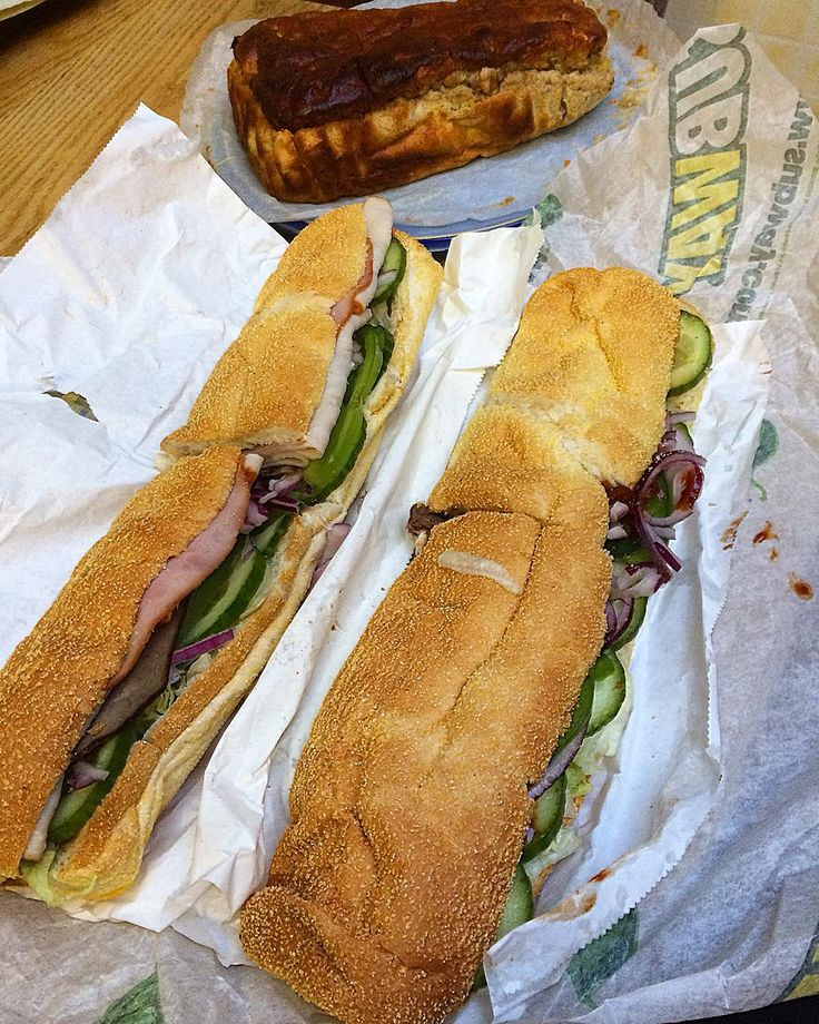 Post workout / lunch break:  Last subway lunch break for a while as I'll be…