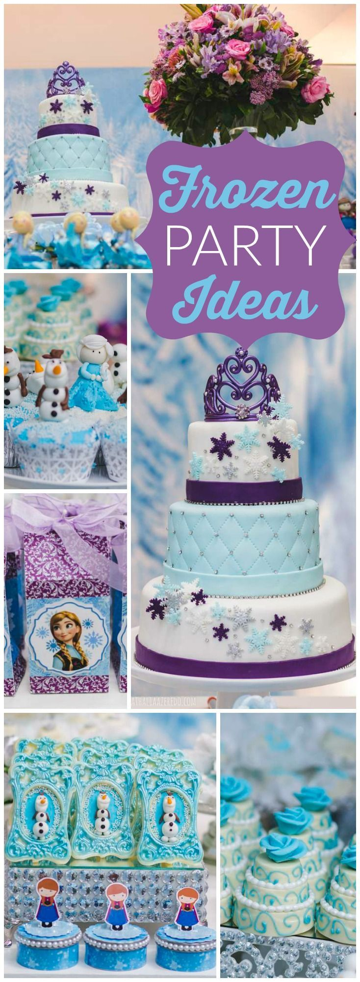 So many amazing ideas at this Frozen birthday party! See more party ideas at CatchMyParty.com!