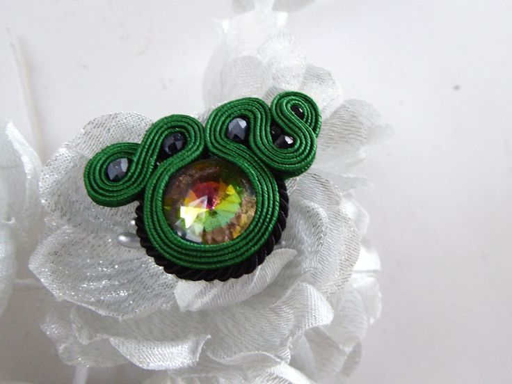 soutache pierścionek  - hand-made-by-El - Pierścionki