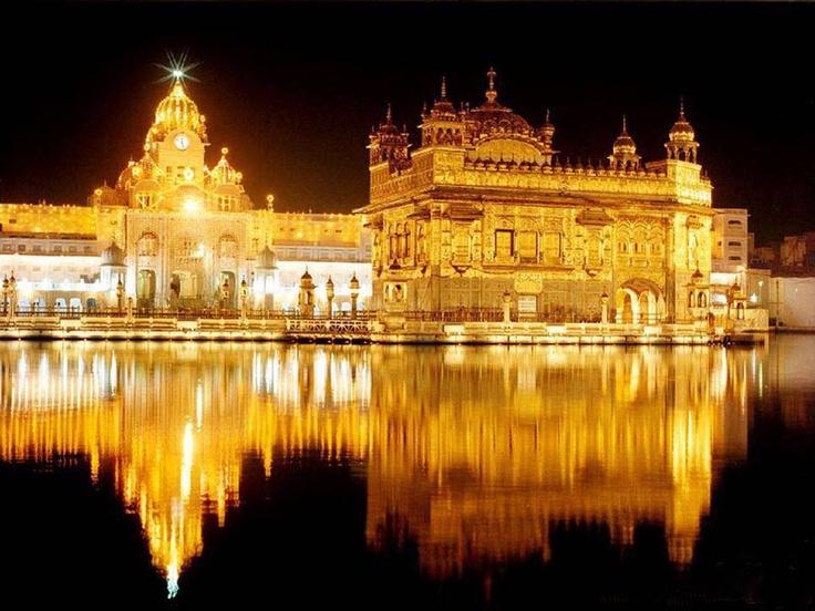Harmandir Sahib (sometimes called the Golden Temple), Amritsar, Punjab, India.
