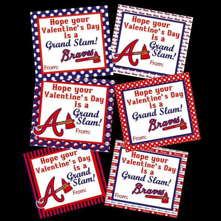 Buy 2 Sets Get 1 Free Set... Braves Valentine's Day Card