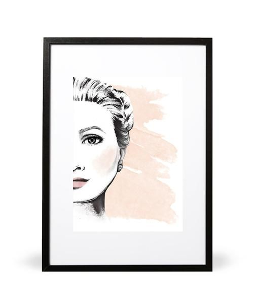 La Femme print. The art of femininity... Part of the Les Blush collection. Featuring illustration. Available in either A4 (21 x 29.7cm) or A3 (29.7 x 42cm). Printed onto 280gsm textured Nettuno Bianco Artico paper stock. Also available in white. Embossed with Intricate Collections logo at bottom right. Original artwork by Intricate Collections.