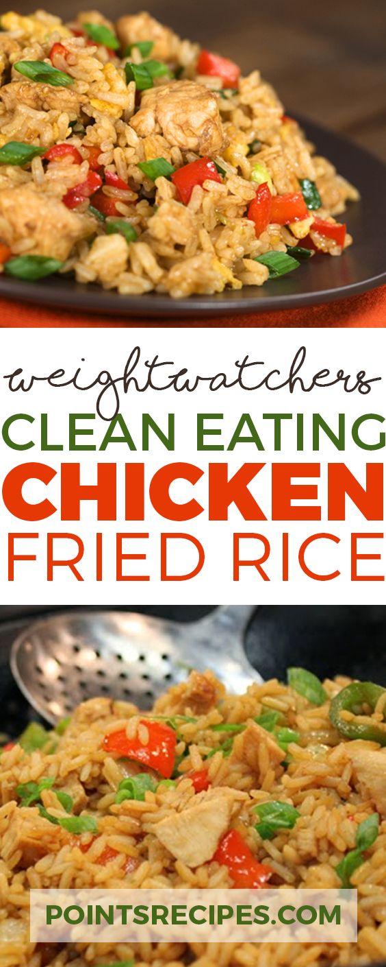 Clean Eating Chicken Fried Rice, weight watchers | follow @sophieeleana